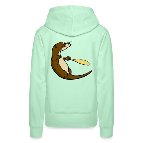 Song of the Paddle; Quentin classic pose - Women's Premium Hoodie