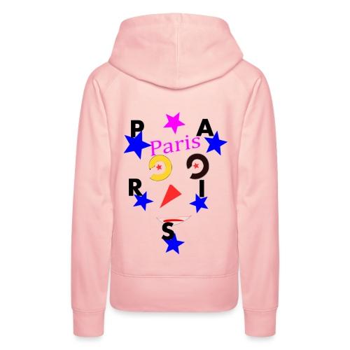 Paris avec etoile - Sweat-shirt à capuche Premium pour femmes