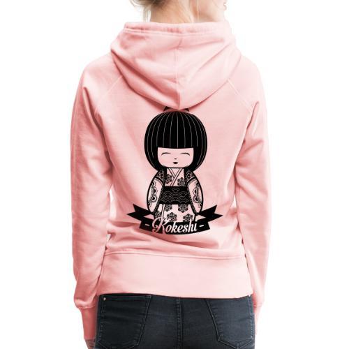 Kokeshi Black - Frauen Premium Hoodie