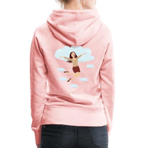 In de wolken - Sweat-shirt à capuche Premium pour femmes