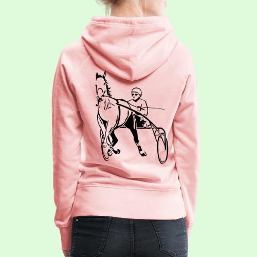 Le Trotteur - Sweat-shirt à capuche Premium pour femmes