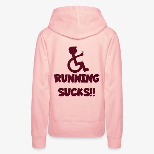 Rolstoel gebruikers haten rennen - Vrouwen Premium hoodie