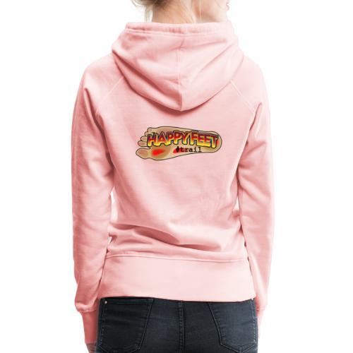 Happy Feet, spécial trail - Sweat-shirt à capuche Premium pour femmes