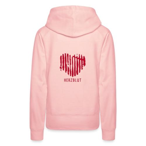 HERZBLUT GIRL HOODY RED - Women's Premium Hoodie