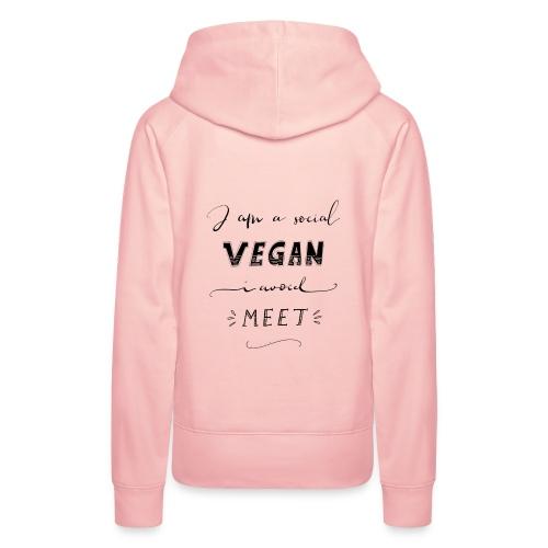 Social Vegan - Frauen Premium Hoodie