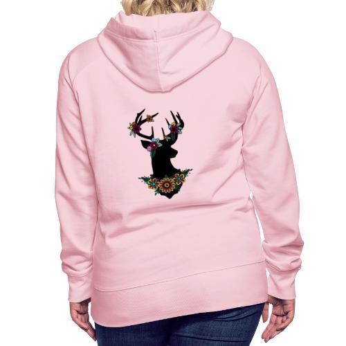 Bloemen ree - Vrouwen Premium hoodie