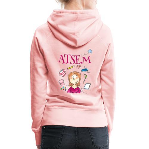 007 ATSEM - Sweat-shirt à capuche Premium pour femmes