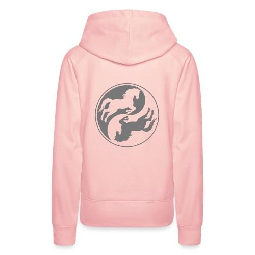 Vorschau: Horse Ying Yang - Frauen Premium Hoodie