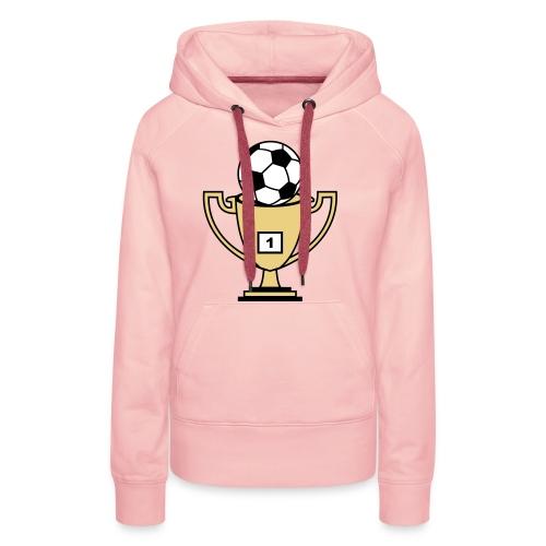 Pokal mit Fussball - Frauen Premium Hoodie