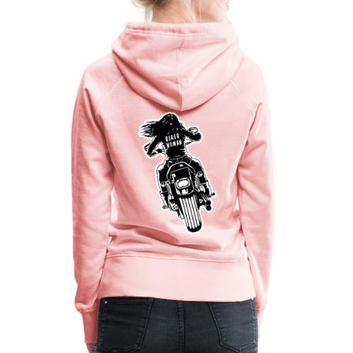 Biker Woman - Sudadera con capucha premium para mujer