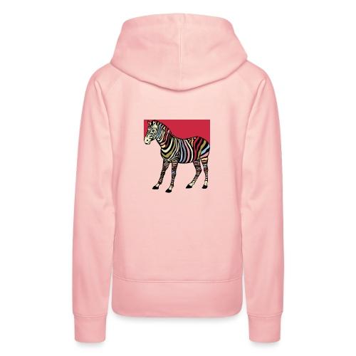zebra tshirt design - Women's Premium Hoodie