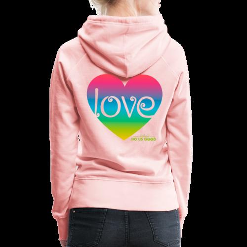 LOVE - Naisten premium-huppari