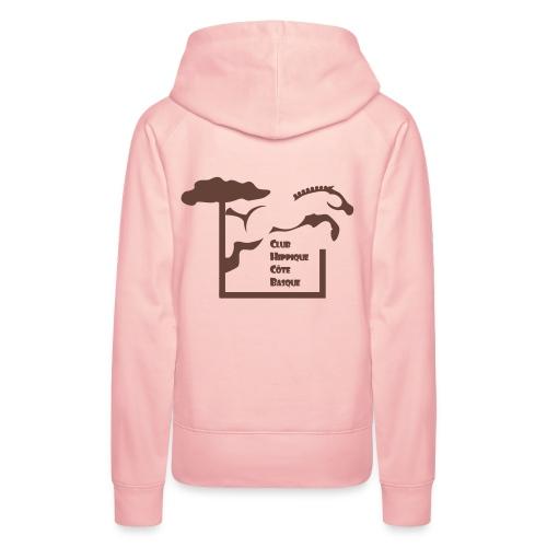 chcb logovecto - Sweat-shirt à capuche Premium pour femmes