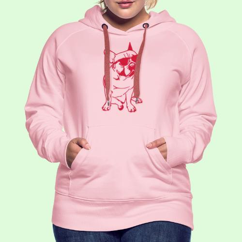 Le Bouledogue Français au soleil - Sweat-shirt à capuche Premium pour femmes