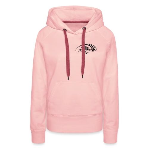 logo noir nu - Sweat-shirt à capuche Premium pour femmes