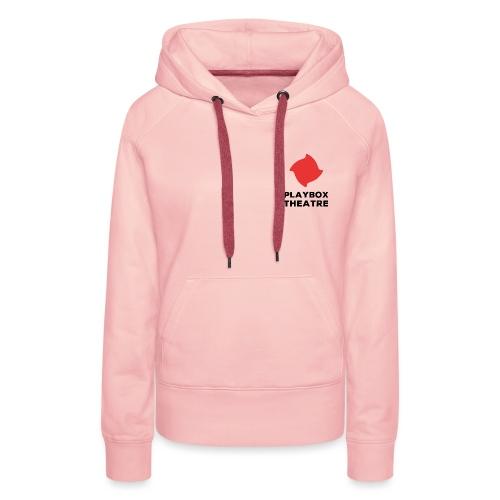 Red Playbox Logo Stacked - Women's Premium Hoodie