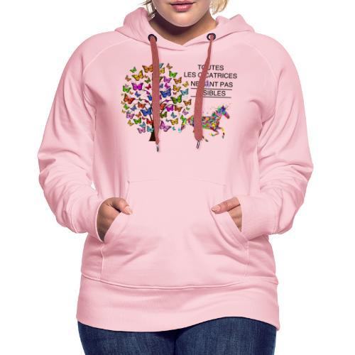 Toutes les cicatrices ne sont pas visibles - Sweat-shirt à capuche Premium pour femmes