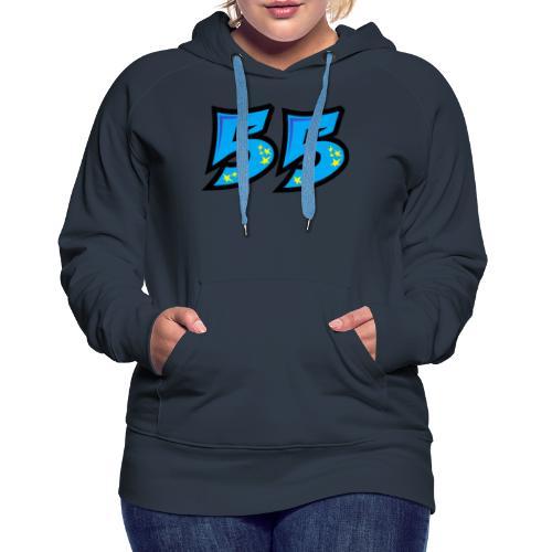 graf55blue - Naisten premium-huppari