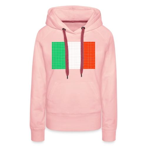 italian flag - Felpa con cappuccio premium da donna
