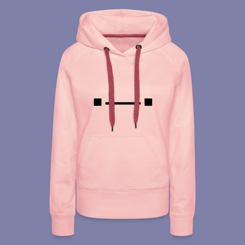 Middle Blocky Face - Women's Premium Hoodie