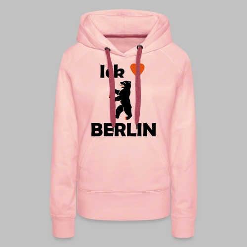 Ick liebe ❤ Berlin - Frauen Premium Hoodie