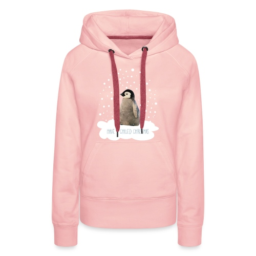 Penguin Poly Art - Have a Chilled Christmas - Women's Premium Hoodie