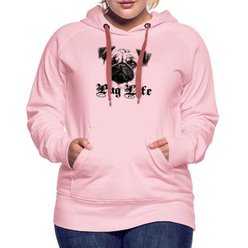 La vie de carlin - Sweat-shirt à capuche Premium pour femmes