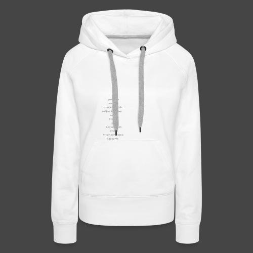 tekno23 - Sweat-shirt à capuche Premium pour femmes