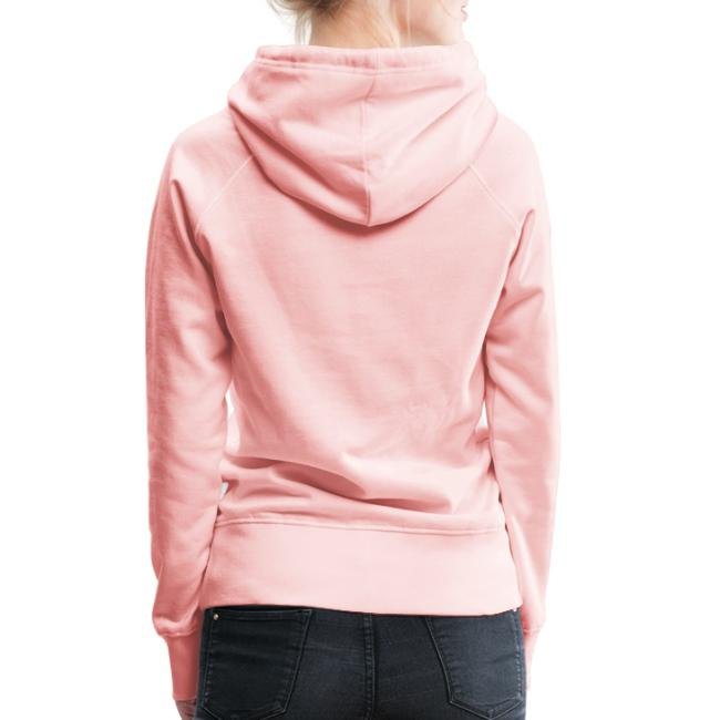 Vorschau: A Hirn wia a Nudlsieb - Frauen Premium Hoodie