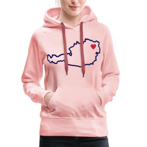 Ein Herz für Österreich - Frauen Premium Hoodie