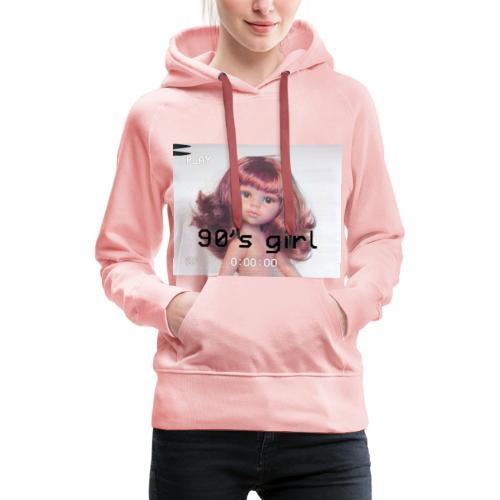 90 girl - Sudadera con capucha premium para mujer