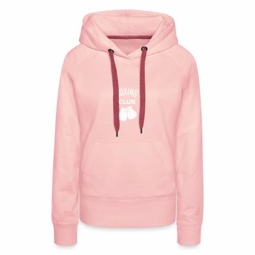 Boxing club blanc - Sweat-shirt à capuche Premium pour femmes