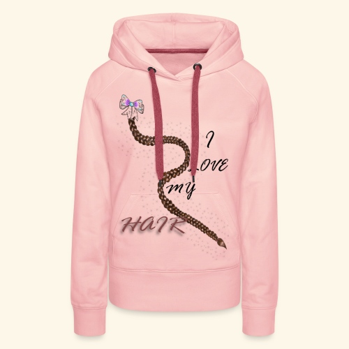 I Love My Hair - Sweat-shirt à capuche Premium pour femmes
