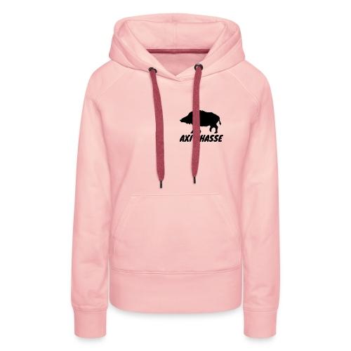 AXI Chasse - Sweat-shirt à capuche Premium pour femmes