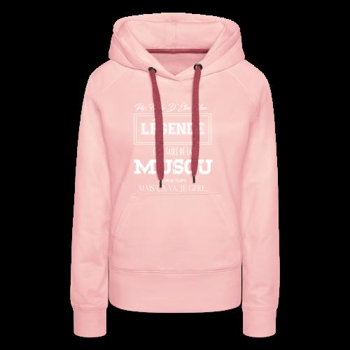 PAS FACILE D'ÊTRE UNE LÉGENDE ET D'ÊTRE MUSCLE - Sweat-shirt à capuche Premium pour femmes