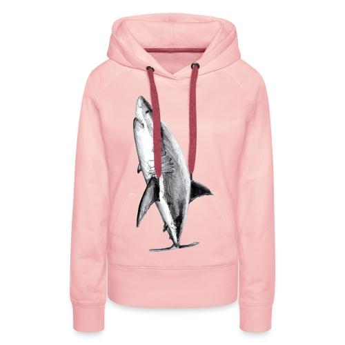 Gran tiburón blanco - Great white shark - Sudadera con capucha premium para mujer