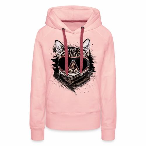 Krasse Taucher-Katze - Frauen Premium Hoodie