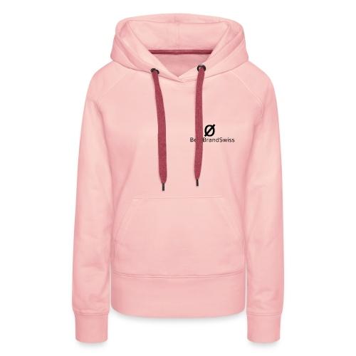 BestBrandSwiss logo - Sweat-shirt à capuche Premium pour femmes