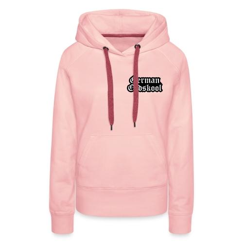Grand Logo German Oldskool Official - Sweat-shirt à capuche Premium pour femmes
