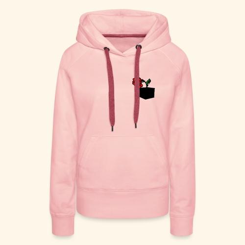 rose cube - Sweat-shirt à capuche Premium pour femmes