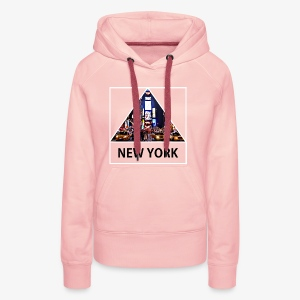 Triangle sur New York - Sweat-shirt à capuche Premium pour femmes