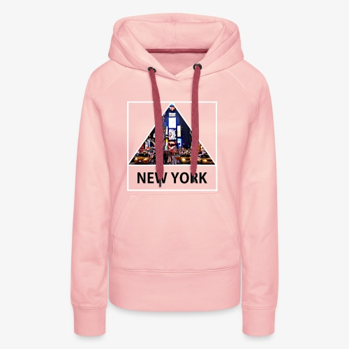 Triangle sur New York - Sweat-shirt à capuche Premium pour femmes