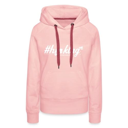 hastag white - Frauen Premium Hoodie
