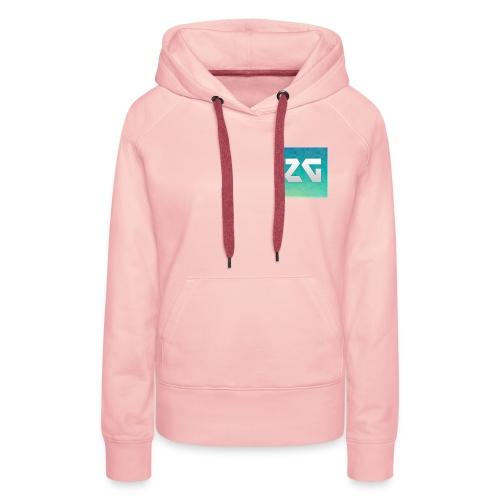 Logo zager - Sweat-shirt à capuche Premium pour femmes