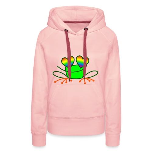Pride Frog in Love - Women's Premium Hoodie