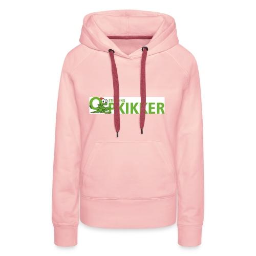 Logo Opkikker - Vrouwen Premium hoodie