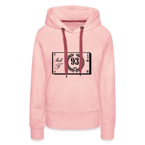 prm hall f - Sweat-shirt à capuche Premium pour femmes