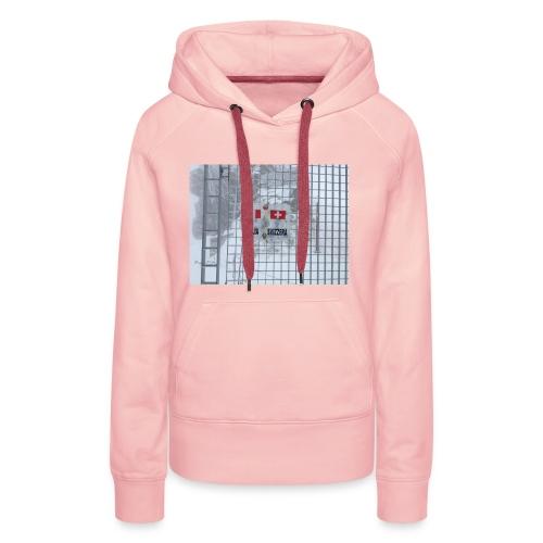 frontière italie suisse - Sweat-shirt à capuche Premium pour femmes