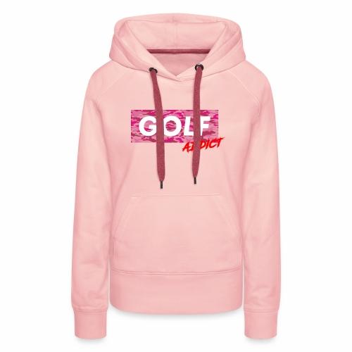 Golf Addict Camo Women - Sweat-shirt à capuche Premium pour femmes