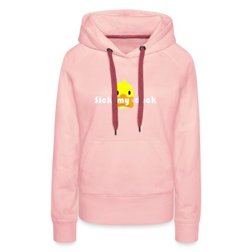 Mon crypto Caro duck sans fond COULEUR - Sweat-shirt à capuche Premium pour femmes